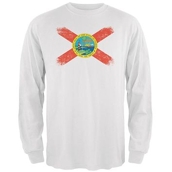 Born and Raised Florida State Flag Mens Long Sleeve T Shirt