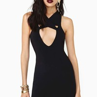 Nasty Gal Girl On Fire Dress - Black