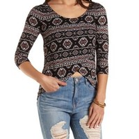 Tribal Print High-Low Top by Charlotte Russe