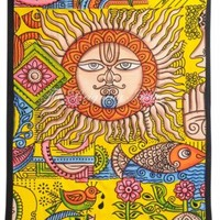 sun moon Tapestry Wall tapestries Hippie Psychedelic Throw Ethnic 2113