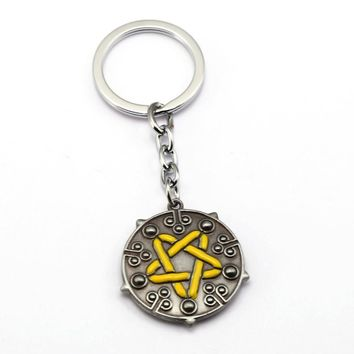 HSIC The Witcher 3 Wild Hunt Keychains Yennefer Witcher 3 Key Chain Hunt Key ring For Men Gifts 12174