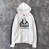 kappa×gosha long sleeve Hooded pullover H-A-GHSY-1
