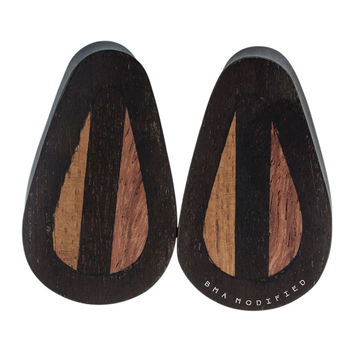 "1"" (25mm) Woody Mix Wood Teardrop Plugs #7592"