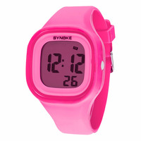 Kids Sport LED Waterproof Rubber Digital Boy's Girl's Stopwatch Date Wrist Watch