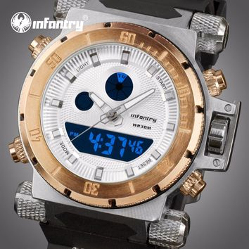 INFANTRY Luxury Brand Men Analog Digital Sports Watches Men's Army Military Watch Man Chronograph Quartz Clock Relogio Masculino