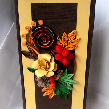 Unique handmade qreeting card, for any occasion. Birthday, Wedding,Anniversary