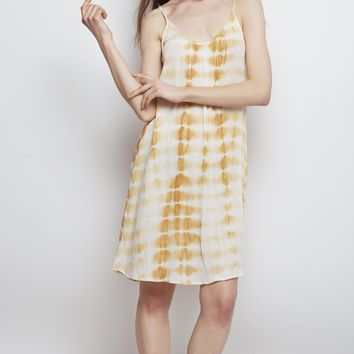 Sand Tie Dye Wave Short Dress
