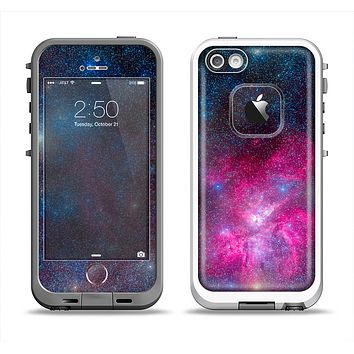 The Pink & Blue Galaxy Apple iPhone 5-5s LifeProof Fre Case Skin Set