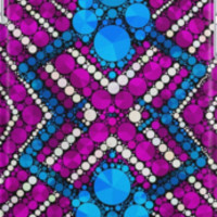 Lavender Sapphire Blue Bling Pattern by Amy Anderson