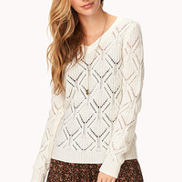 Darling Diamond-Knit Sweater