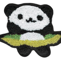 Large Chenille Panda Bear Patch 11cm
