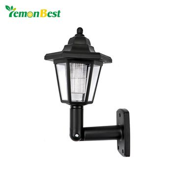 2pcs Waterproof Solar Garden Light LED Wall Lamp Hexagonal Cool White Auto ON for Outdoor Lighting Fence Yard Decoration