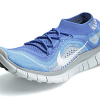 Nike Free Flyknit+ Men's Shoes Royal/White/Wolf Grey