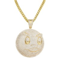"""Hip Hop Blood Money Chief Keef Iced Out Pendant 24"""" Necklace"""