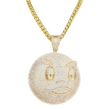 "Hip Hop Blood Money Chief Keef Iced Out Pendant 24"" Necklace"