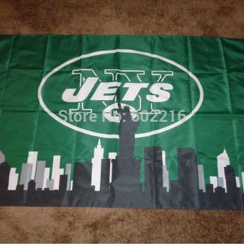 New York Jets City Large Outdoor Flag 3ft x 5ft Football Hockey USA Flag