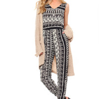 Ronnie Tribal Print Jumpsuit