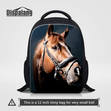 Toddler Backpack class Dispalang Kindergarten School Bags Animal Horse Print Kids Small Backpack For Baby Toddler Kids Book Bag Boy Casual Backpacking AT_50_3