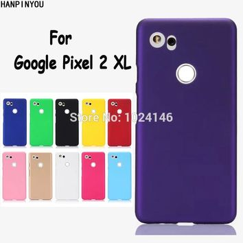 "For Google Pixel 2 XL 6.0"" New Slim Matte Hard Plastic Case Candy Color Frosted Anti-fingerprint PC Cover"