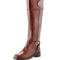Teresa Logo Riding Boot, Almond - Tory Burch - Almond
