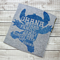 Ohana Means Family Shirt, Ohana, Stitch, Lilo, Lilo and Stitch, Family, Hawaii, Nobody Gets Left Behind, Run Disney, Disney Vacation, Alien
