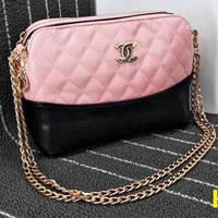 Gucci Women Leather Metal Chain Crossbody Shoulder Bag Satchel B-OM-NBPF Pink
