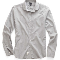Poplin Shirt in Grey Mélange