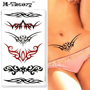 HOT Fashion Tattoo Stickers      Water Transfer Temporary Body Art Vintage Lace Designs Waterproof 3-5 Days