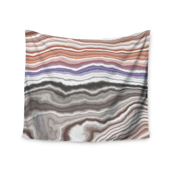 "KESS Original ""Iris Lake Bed"" Geological Abstract Wall Tapestry"