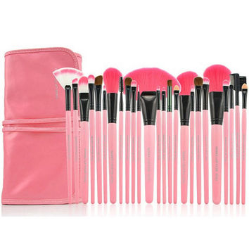 Professional 24-Piece Essential Brush Collection Tool Beauty Gift