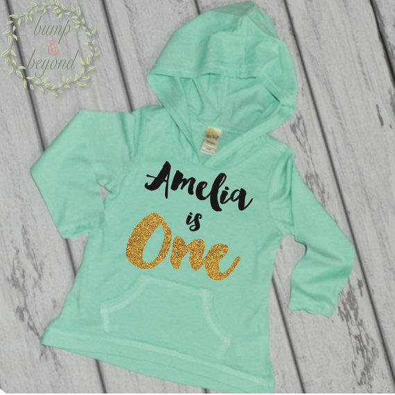 One Year Old Birthday Outfit PERSONALIZED From Bump And Beyond