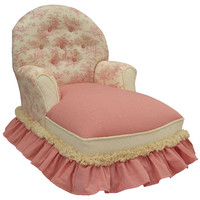 Angel Song 111120128 Toile Pink  Child Queen Anne Chaise Lounge