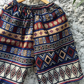 Boho Festival Hippie Men Shorts Summer Clothing Aztec Tribal Southwestern Native Vegan Style Burning man Coachella Hipster Unique Unisex