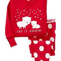 """Let It Snow"" PJ Sets for Baby"