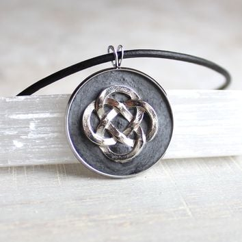 Celtic knot necklace - additional colors available