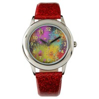 Colorful Fuzzy Splat and Confetti Template Watch