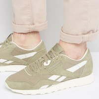 Reebok Classic Nylon Trainers In Green BD2691 at asos.com