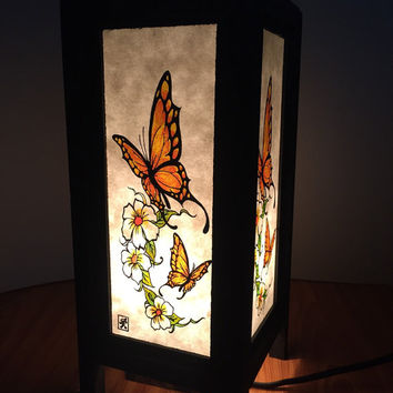 Oriental Lamp, Mulberry paper asian style lamp for bed room and home decoration,bed room lamp ,home lighting and room decoration.