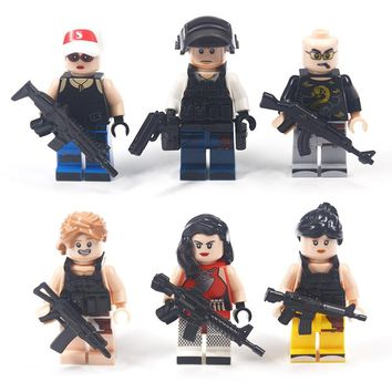 Military Weapon Building Blocks Brick Series City  Battlefield Army Police Guns MOC Friends Compatible Legoing DIY Toy For Kids