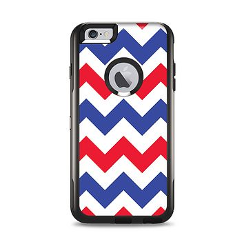 The Patriotic Chevron Pattern Apple iPhone 6 Plus Otterbox Commuter Case Skin Set