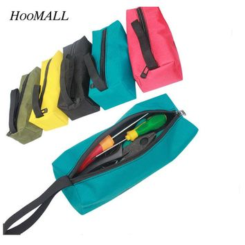 Hoomall 1Pc Storage Tools Utility Bag Oxford Canvas Multifunctional Waterproof For Small Metal Parts With Carrying Handles