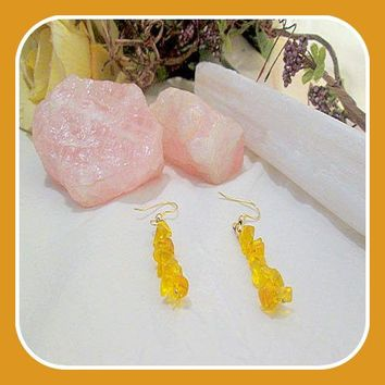 Passion & Success Citrine Chip Earrings