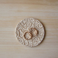 Wedding ring dish - Ceramic Jewelry Dish - Shabby Chik Ring dish