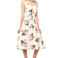 BB Dakota Emeli Printed Midi Dress