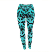 "Pom Graphic Design ""Eye Symmetry Pattern"" Yoga Leggings"