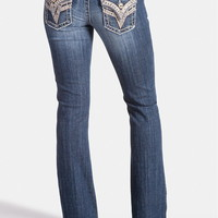 vigoss ® back flap pocket bootcut jeans