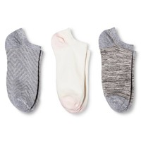Women's Low-Cut Socks 3-Pack Texture Heather Gray One Size - Merona™ : Target