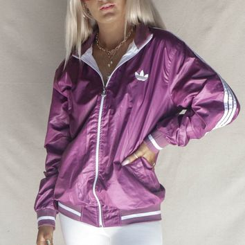 VINTAGE Purple Adidas Windbreaker