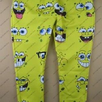 Yellow Emoji joggers 3D giggle smirk funny cute  trousers Women Mens sweatpants