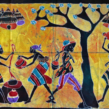 African Art, African Batik, African American Art, Home Decor, Afrocentric Art, Black Art, Afro Cuban Art, Ethnic Art, Tribal Art